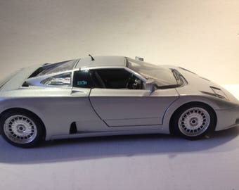"Model car, ""Bugatti 11 of 1991""."