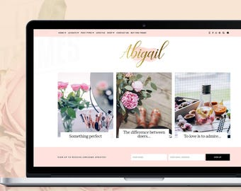WordPress Theme - Abigail / WordPress Blog Theme / WordPress Template / WordPress Theme Responsive / WordPress Website Design / Web Design