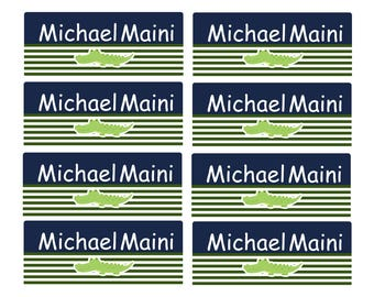 100ct Alligator Daycare Name Labels, Kids School Labels, Personalized Name Labels -Waterproof Labels Tinny, School Name Labels, Camp