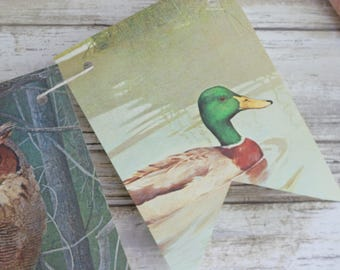 North American Wild Birds Partridges Pheasants Geese Ducks Paper Bunting Banner Pennant Garland