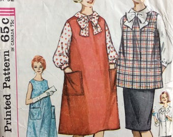Simplicity 4641 misses maternity skirt, blouse, top, jumper or dress size 12 bust 32 vintage 1960's sewing pattern