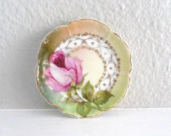 Vintage China Tea Bag Plate, Trinket Dish or Spoon Rest