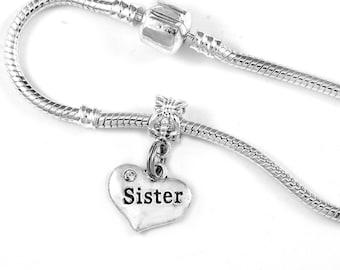 Sister Charm Bracelet Sisters bracelet Sister jewelry Sisters Jewelry Sis Bracelet