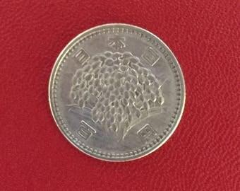 Silver Japanese 100 Yen Coin