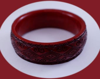 Womans Red Bangle Bracelet Vintage Bangle Vintage Jewelry Wedding Bracelet