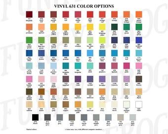 Download Vinyl Color Options Chart, Oracal 631, 651, 751