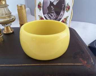 Vintage Yellow Wide Bangle
