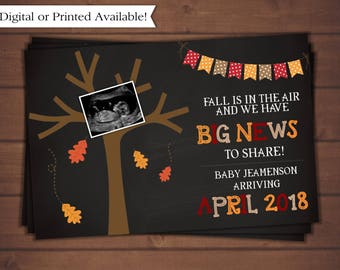 Pregnancy Announcement, Fall Pregnancy Announcement