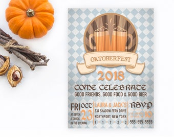 Oktoberfest Invitation, Oktoberfest Party Invitation, Halloween Party Invitation, Beer Party, Beer Party Invitation, Bier Party Invitation