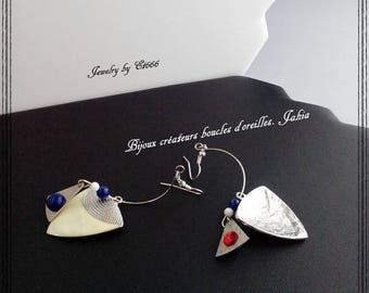 Creative jewelry earrings. Jahia
