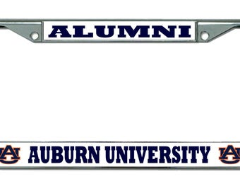 Auburn University Alumni Chrome License Plate Frame
