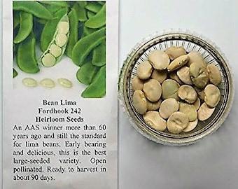 David's Garden Seeds Fordhook Lima Beans