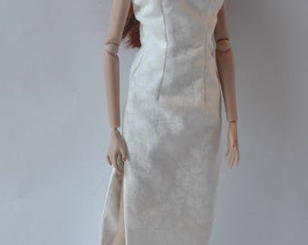 White Dress Gown Fits Royalty FR2 Doll and Barbie Doll This is not a product of Mattel barbie doll Barbie Clothes #4