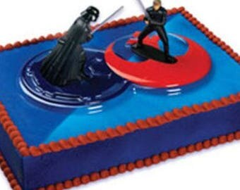 Star Wars Darth Vader vs Luke Skywalker Cake Topper Decor Set - CD418C/TV3