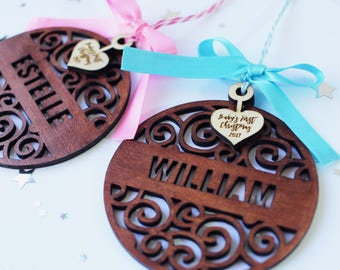 Babys First Christmas Ornament - Personalized Baby Ornament - My First Christmas Ornament - Baby's 1st Christmas Ornament - Name Ornament