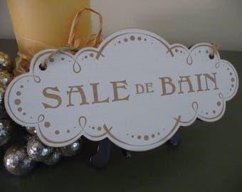 Vintage Badezimmer Zeichen, Salle De Bain Zeichen, Französisch Badezimmer  Tür Zeichen, Schäbige Schicke