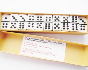 Domino game with polymer clay in its storage case and gift toy game kids game