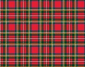 Red Flannel Christmas Plaid HTV Heat Transfer Vinyl Red Yellow Green Black Plaid, Buffalo Check Tshirt Material