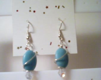 Magnesite turquoise earrings