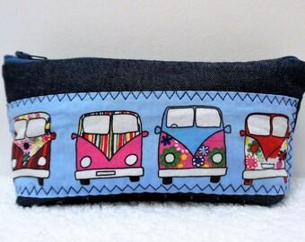 School fabric denim and multicolored vans Kit