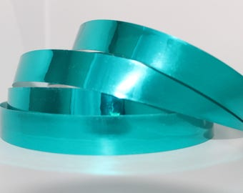 """3/4"""" Teal Mirror Hula Hoop Tape - Performance Tape - 150, 100, and 50 ft rolls- Decorative Tape -"""
