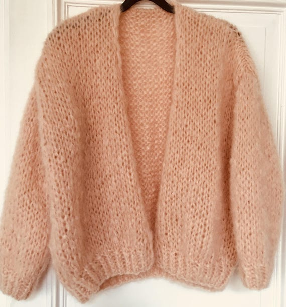 Mohair Cardigan, cardigan, bomber, bernadette vest, hand knitted, lightweight and soft,