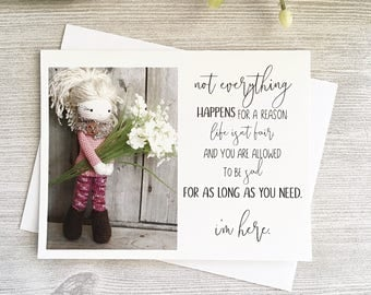 I'm Here for You - Thinking of You Card - Sympathy - Friendship Card