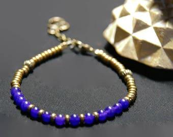 Bracelet bronze and purple alexandrite gemstones * land of India *.