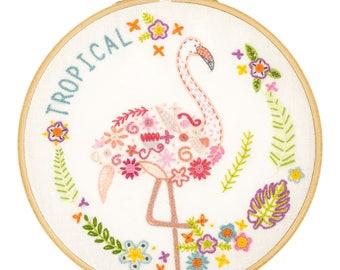 """Kit to embroider """"Gontran Flamingo"""""""