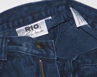 RIO by Stephen Mardon Dark Blue Denim Jeans, size 9