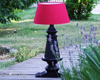 Unique lamp made of an old piano