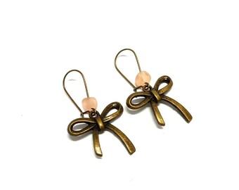 Earrings sleepers bows, pearls roses