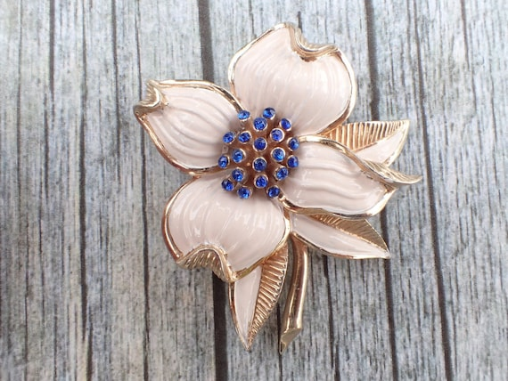 Signed MB with phrygain cap Marcel Boucher Flower Brooch AC130