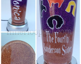 Fourth Sanderson Sister 20 Oz Stainless Steel Two Tone Glittered Tumbler