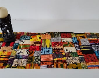 African Scrappy Print Fabric Table Topper Table Runner Home Decor African Textile
