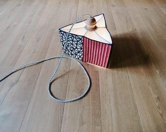 Paper Machè Hanging Lamp
