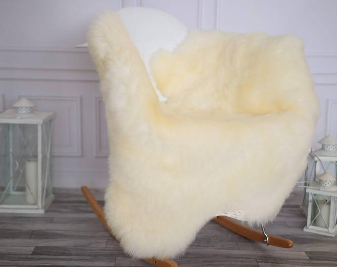 Sheepskin Rug | Real Sheepskin Rug | Shaggy Rug | Chair Cover | Sheepskin Throw | Ivory Sheepskin | CHRISTMAS DECOR | #DECHER6