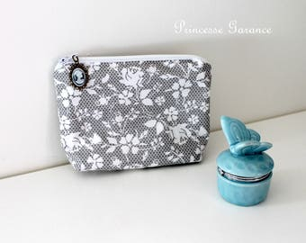Christmas, birthday * clutch makeup, travel, girl treasures, cotton lace, shabby-inspired