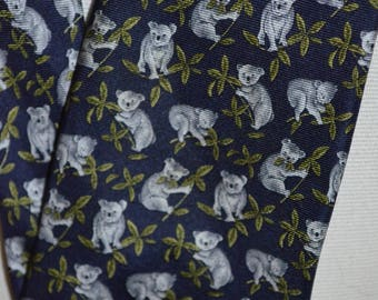 Vintage Koalas Full Length Necktie by Beaufort