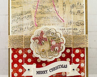 Merry Christmas Slider Hidden Message Greeting Card