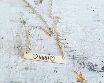 Jeep lover handstamped bar necklace | jeep jewelry | jeep lover | jeep girl | handstamped jewelry | jeep | bar necklace