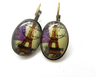 Earrings cabochon paris