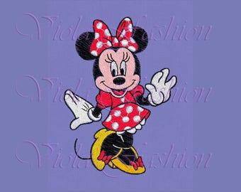 Minnie Mouse embroidery design pes hus jef vp3 xxx vip exp dst