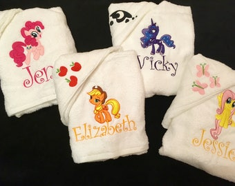 Personalised My little Pony Towel Sets
