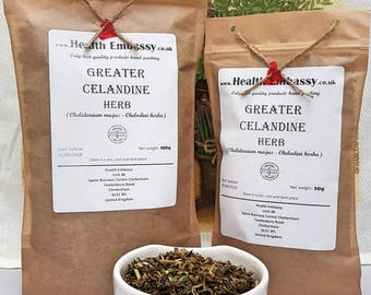 Greater Celandine (Chelidonium majus- Chelodini herba) - Health Embassy - Organic