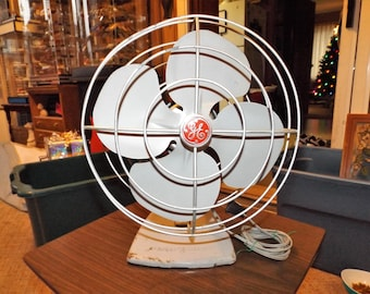 Vintage, GE, Metal Fan, Gift For Him, General Electric, Vintage Electronics, Antiques, Rustic, Home Decor, Gift For Her, Fan, Industrial Fan