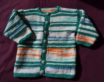 cotton hand knitted baby Cardigan