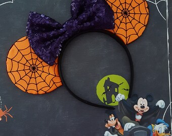 Spider Web Satin Mouse Ears