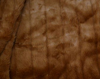 "Free Shipping 30 x 60"" Clearance Faux Brown Mink Fur Fabric"