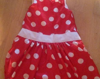 sleeping bag red dress with dots
